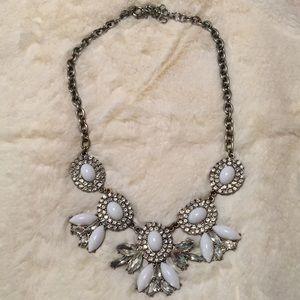 J Crew statement rhinestone necklace